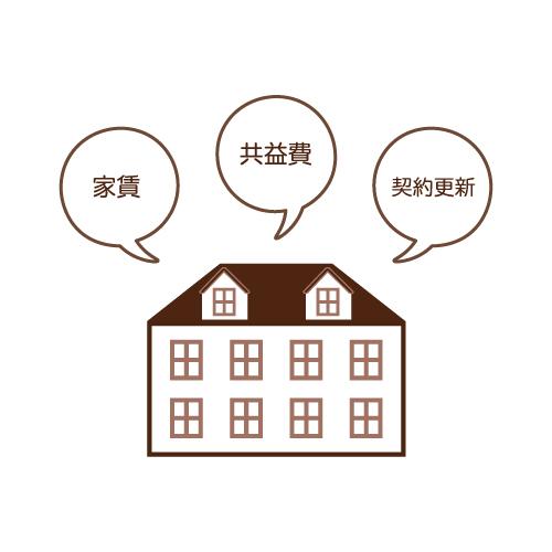 シェアハウスの管理料・管理費のイラスト画像