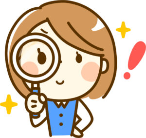 検索をしている女性のイラスト画像