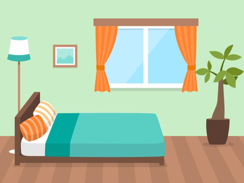 シェアハウスの部屋のイラスト画像