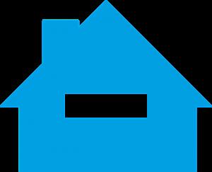 家のイラスト:青:写真画像