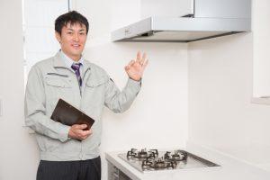 キッチン:管理:男性:写真画像