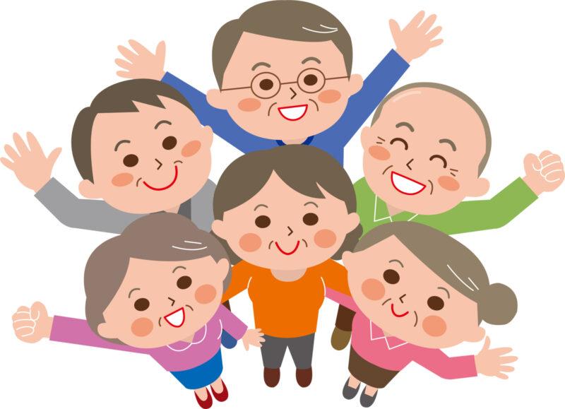シニア・高齢者のイラスト画像